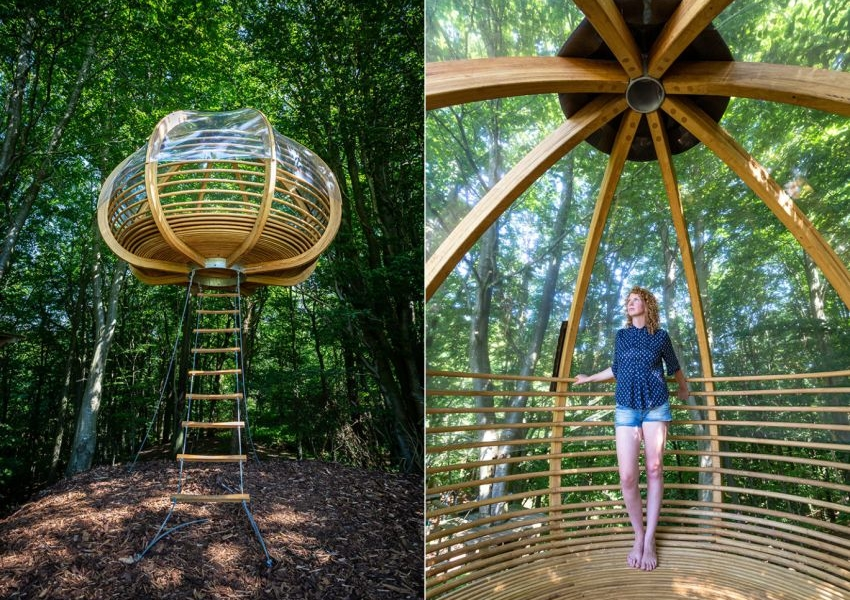 Hanging Shelter by Stedse Architects for Connecting with Nature