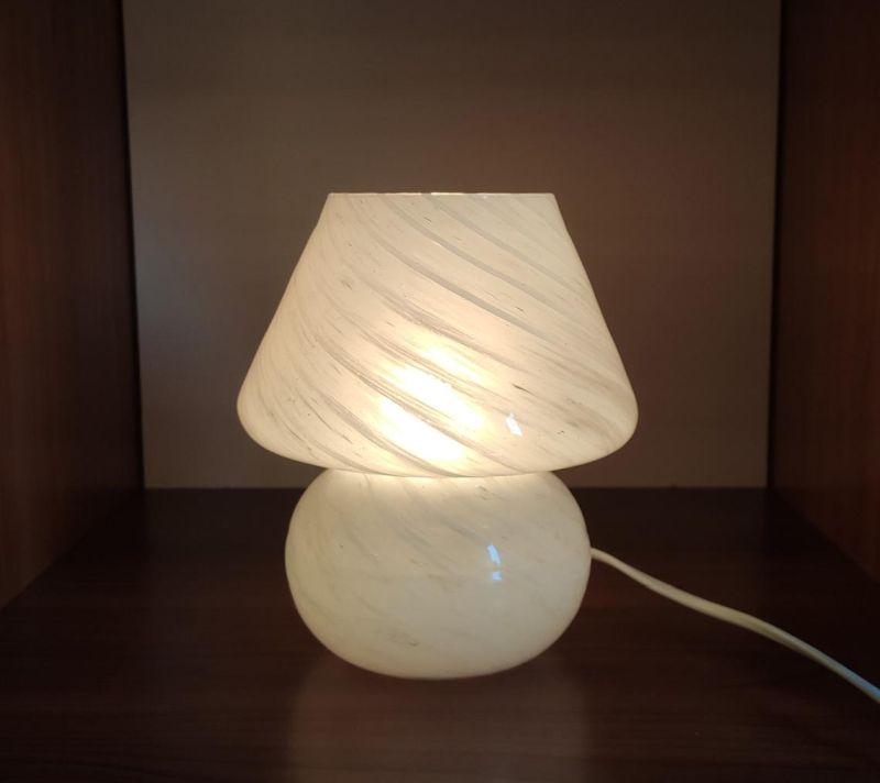 Italian Murano Glass Mushroom Table Lamp