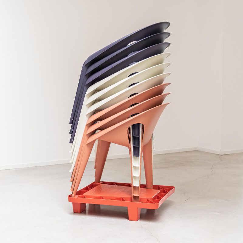 Konstantin Grcic and Magis Creates Bell Chairs using Recycled Polypropylene