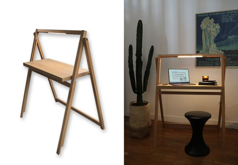 MARCEL Folding Desk by Christophe Gernigon Studio is a Space-Saver