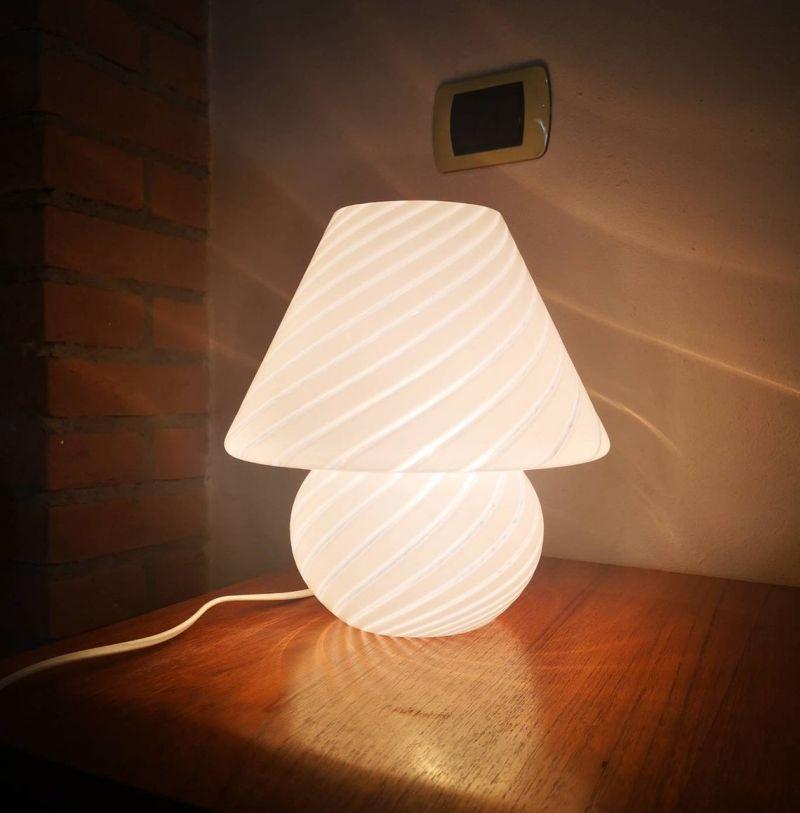 Murano Glass Mushroom Table Lamp