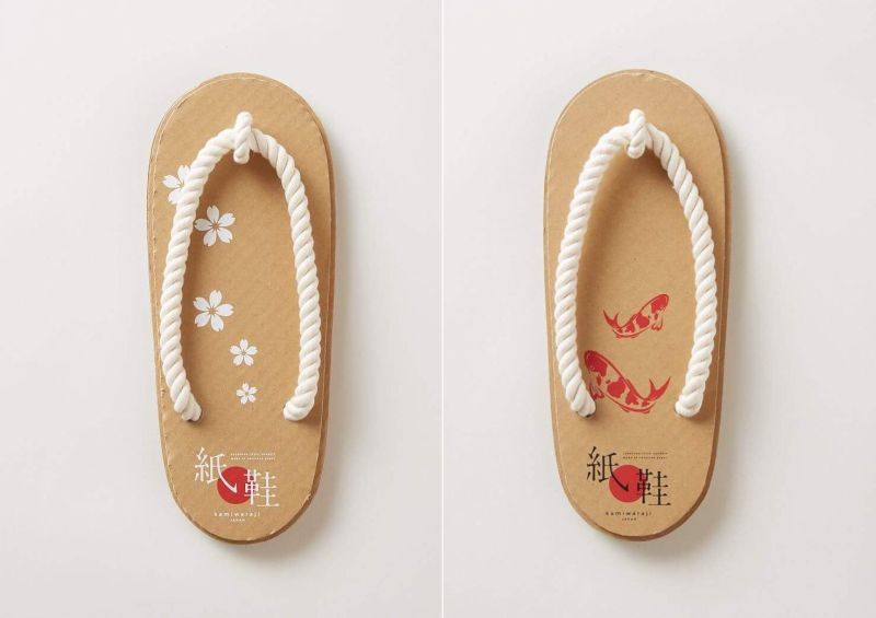 These Japanese Style Sandals are Made from Corrugated Cardboard