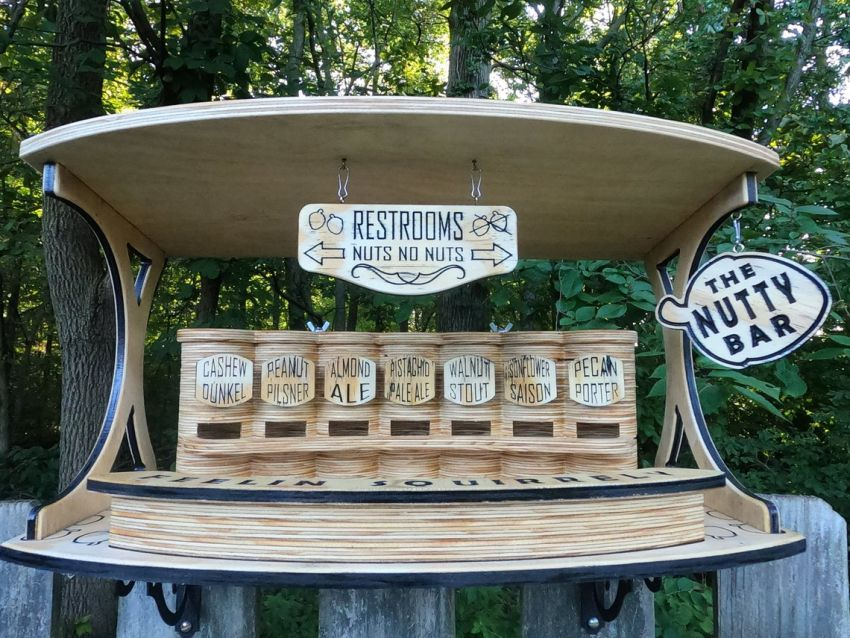 Woodworker Goes Viral for Making an Adorable Bar for Squirrels
