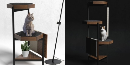 Zulo Mx Wood & Steel Cat Towers Won't Wobble