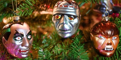 Archie McPhee Launches Spooky Monster Head Christmas Tree Ornaments