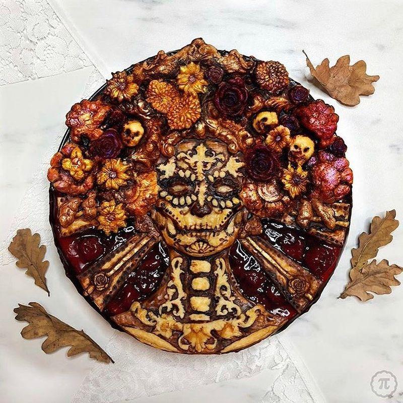 Baker Creates Spooky Pie Crust Designs for Halloween