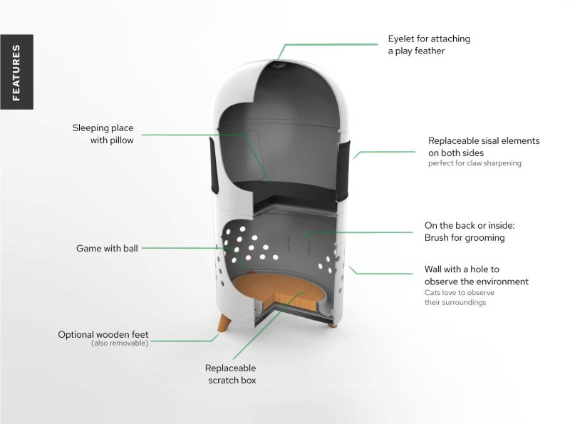 Catrub ONE is Modular Multifunctional Cat Furniture