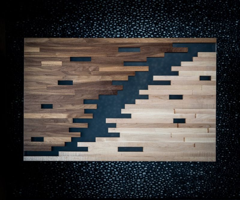 Clear Epoxy Pixelated Coffee Table by Zac Builds