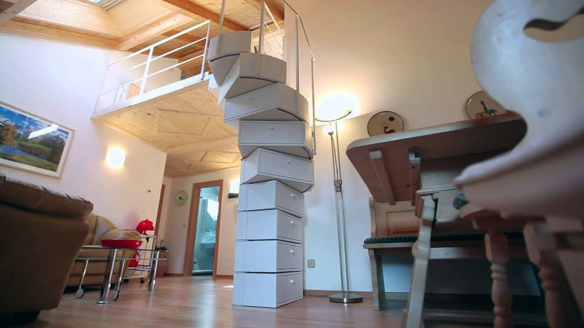 ECLETTICA Folding Spiral Staircase by B PIÙ s.r.l.