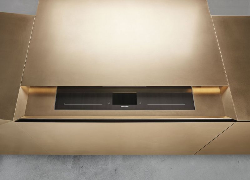 FOLD Kitchen Island by STEININGER is made of Metal Materials