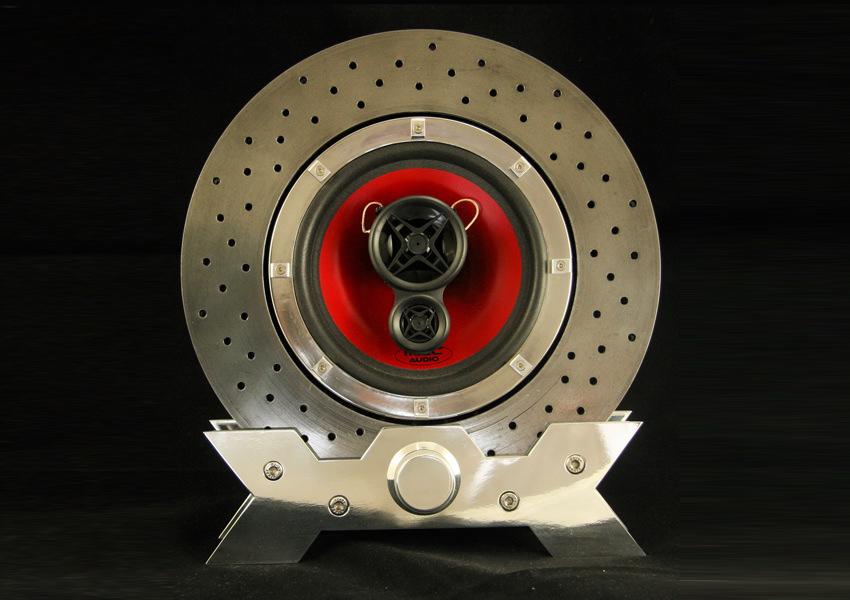 Designer Turns Ferrari F430 Brake Disc into Bluetooth Speaker