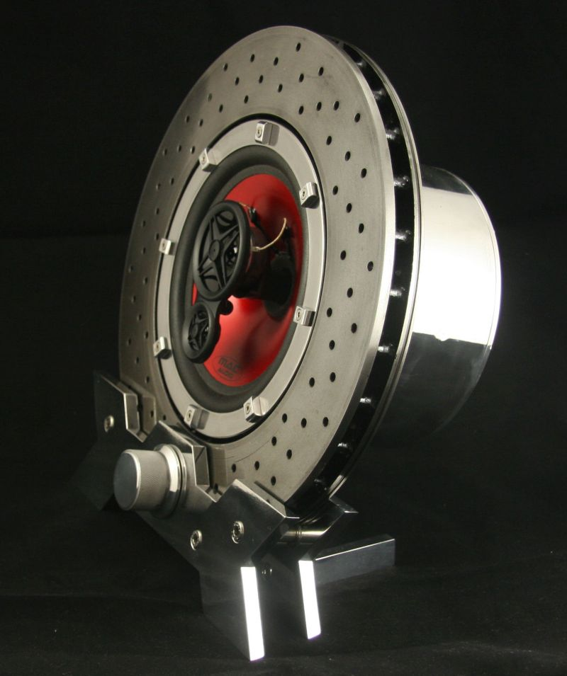 Designer Turns Ferrari F430 Brake Disc into Bluetooth Speaker