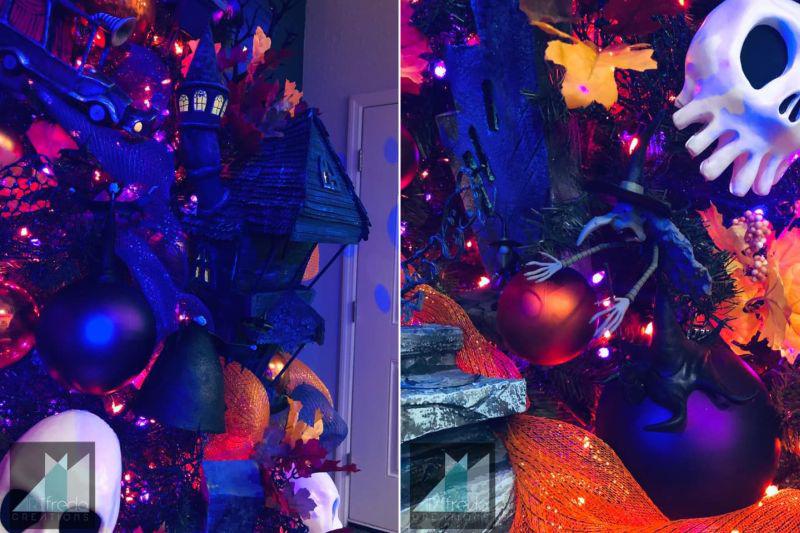 Alfredo Majuri's Halloween Town Tree Embodies Creativity at Its Best