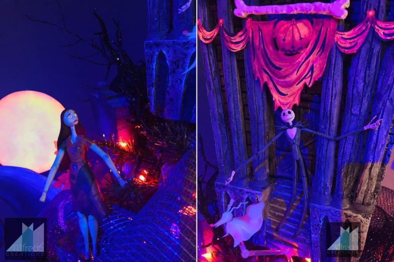 Jack and sally in Halloween Town