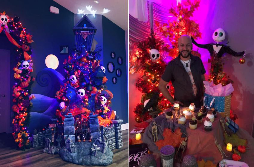 Alfredo Majuri's Halloween Town Tree Embodies Creativity at Its Best