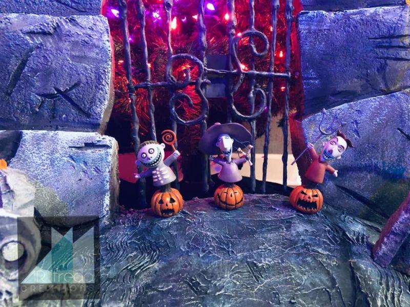 Lock, Shock and Barrel in Halloween Town