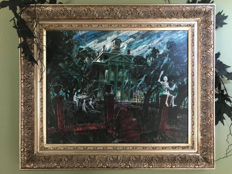Paintings in Paul's house scream Halloween