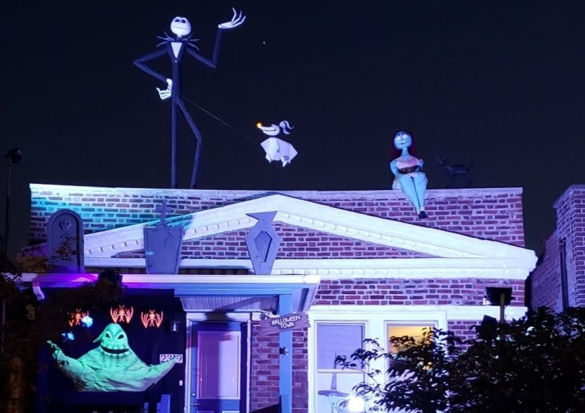 Man Builds Nightmare Before Christmas Halloween Display for 2020