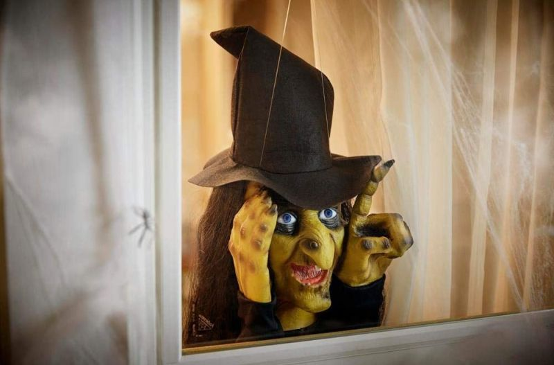 Scary Window Tapping Witch