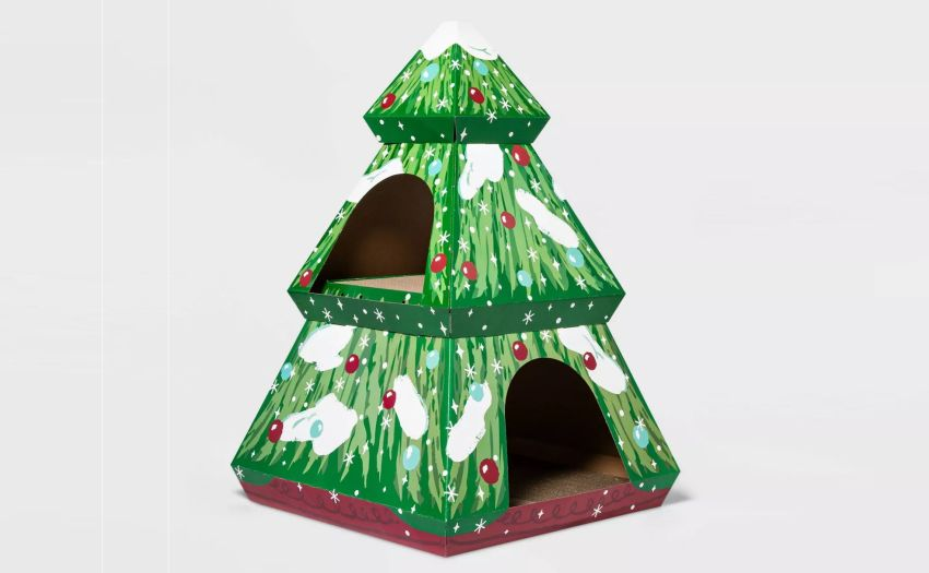 Target Launches Holiday-Themed Cat House Scratchers for 2020