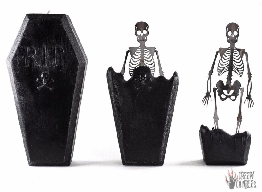 These Spooky Coffin Candles are Perfect for Halloween
