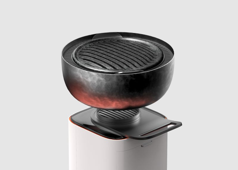 This Charcoal Grill is Designed for Smokeless Indoor BBQ Sessions