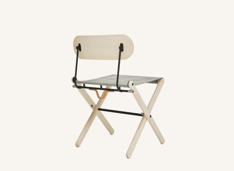 Departo Folding Chair Combines Scandinavian Build and Japanese Materiality