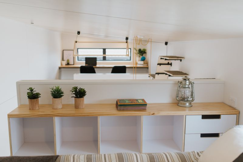 This Tiny House has Cat-Friendly Interiors and Two Lofts