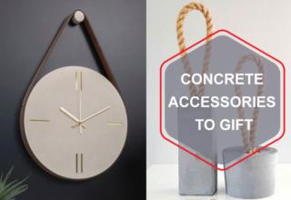 Concrete accessories to gift