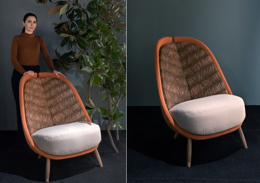 Cristina Celestino Designs Sustainable Version of Pianca's Calatea Armchair