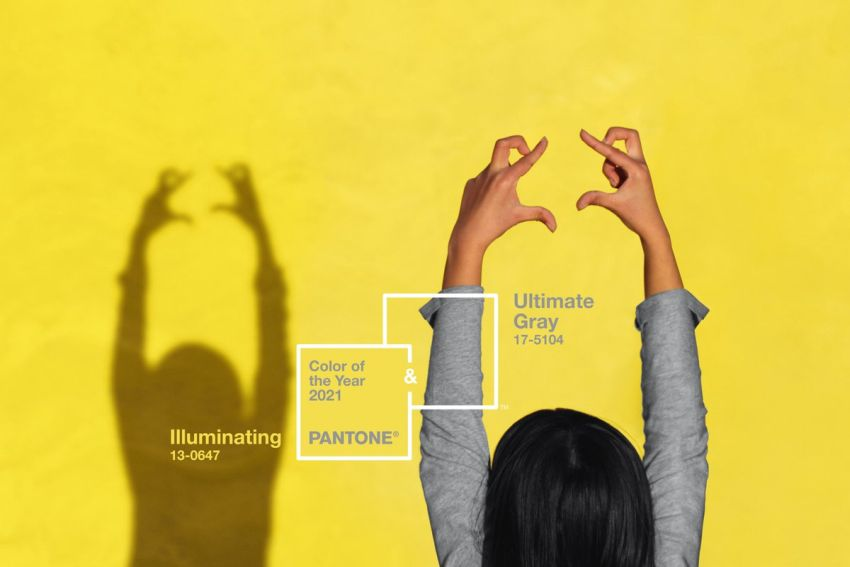 Pantone Releases Two Colors for 2021: Bright Yellow and Warm Grey