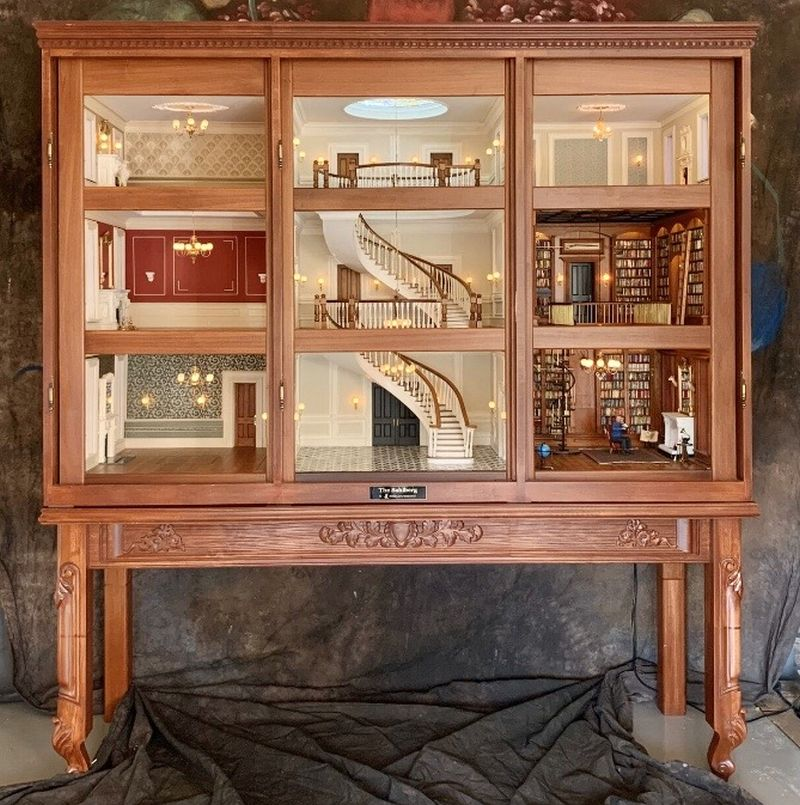 THE SAHLBERG Miniature Cabinet House by Jimmy Landers