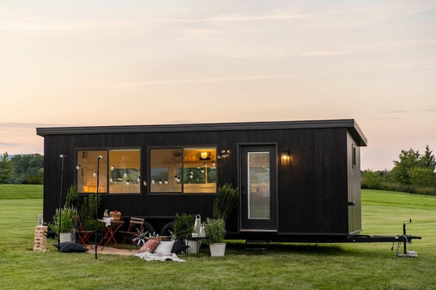 Escape Traveler Custom Builds Tiny House on Wheels for IKEA