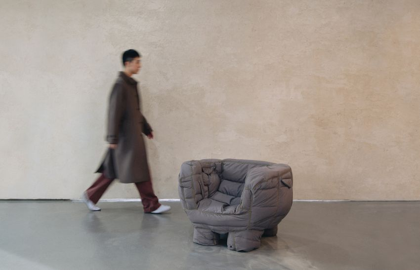 Jinyeong Yeon Turns Unsold Puffer Jackets into Unique Padded Chairs