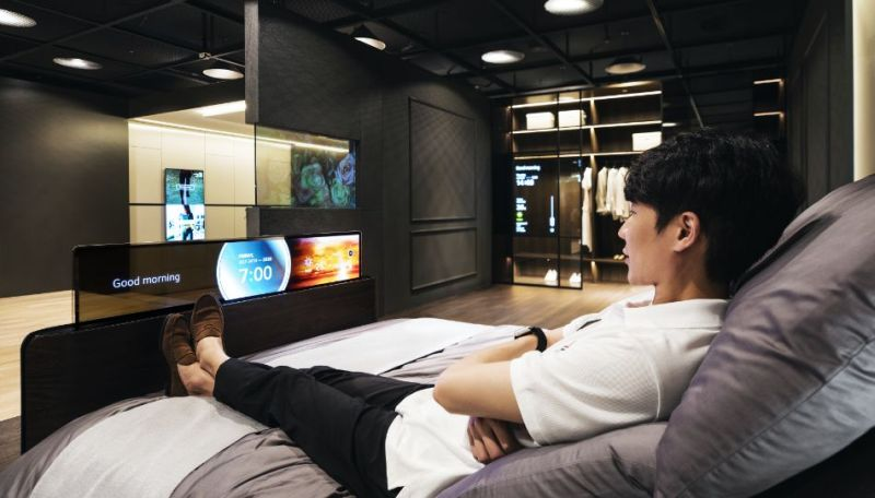 LG Envisions Smart Bed with Built-In Transparent OLED Display