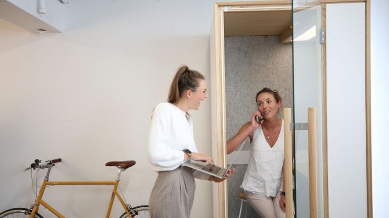 Nook Modular Soundproof Booth Provides Employees with a Private Space