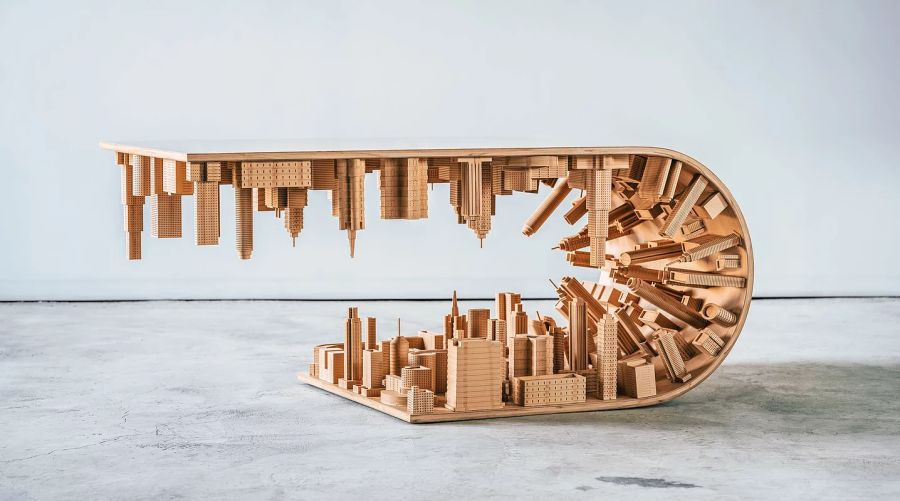 Wave City Inception Table by Stelios Mousarris