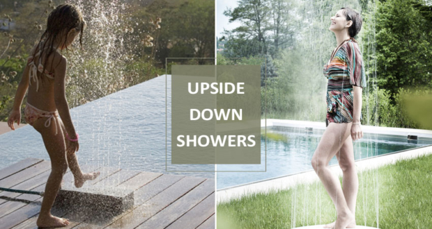 3 Upside-Down Showers that will Spice Up Your Backyard