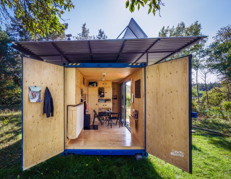 Gaia Self-Sufficient Shipping Container Home from Pin-Up Houses