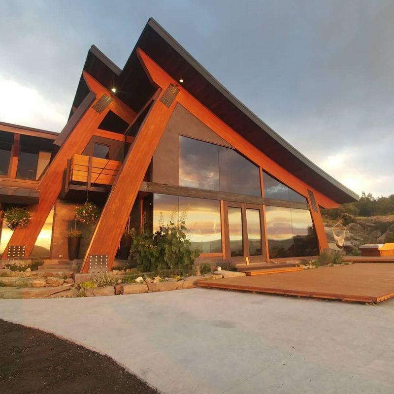Man Builds Dream House Using Reclaimed Wood Beams