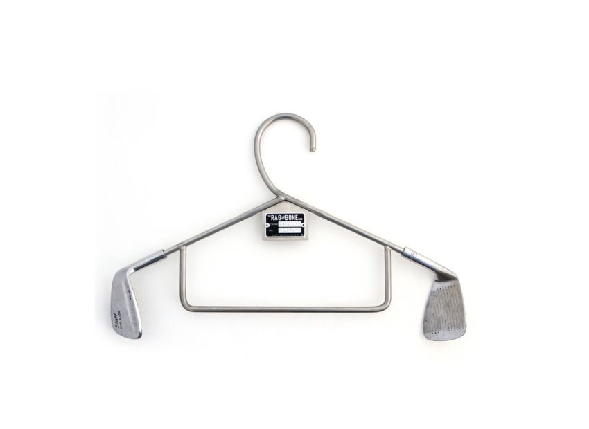 Man Upcycles Discarded Golf Clubs into Clothes Hanger