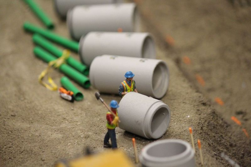 Ryan Haasen Builds Diorama Boardroom Table for Blue-Con Excavating