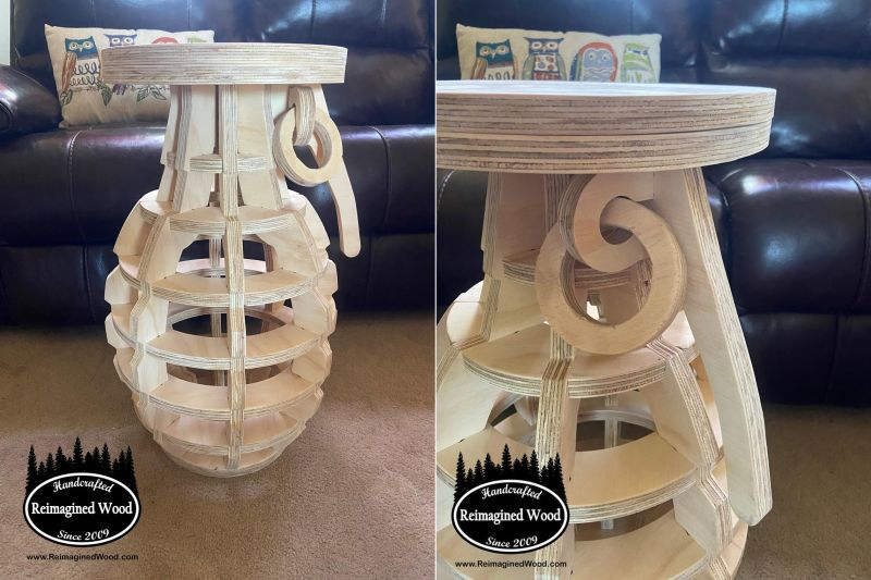 This Grenade-Shaped Side Table will Impress You to the Core