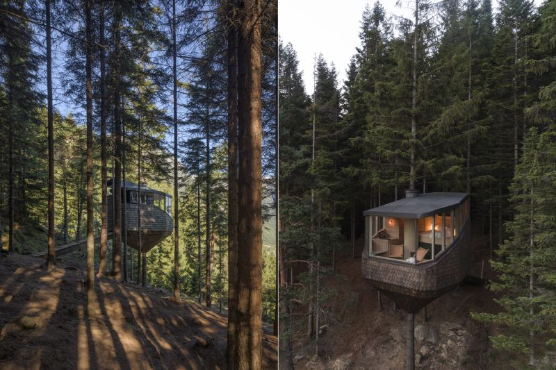 Woodnest Treehouse Built by Helen & Hard is Available for Rent