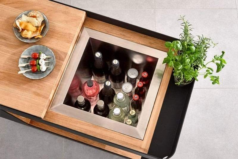 BOXHILL'S INDU Bar Isle Combines Mobile Bar and Side Table in One