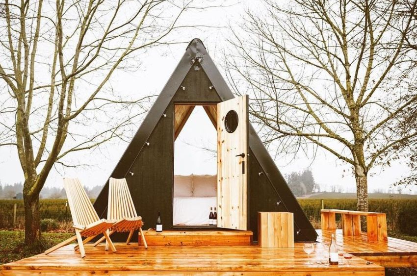 Bivvi A-Frame Cabins are Designed to be Placed in any Landscape