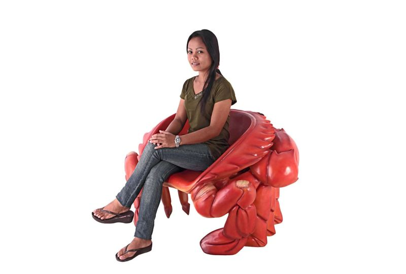 Giant King Crab Sculptural Lounge Chair by Design Toscano
