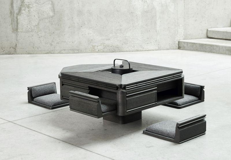 Hasu Japanese-Inspired Tea Table by Dieter Mortelmans