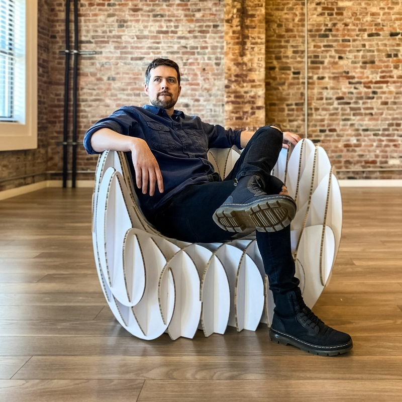 Nordwerk shares its manual to make cardboard armchair at home