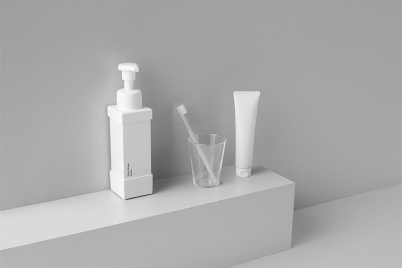 Nendo's paper carton dispenser is a good replacement for plastic bottles